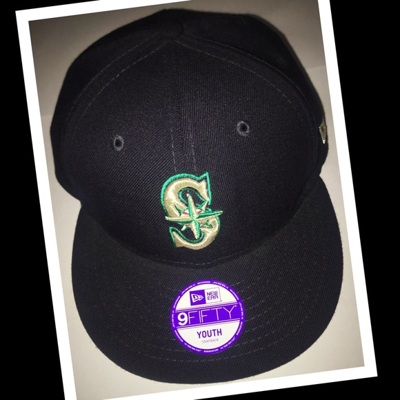 5e4afe56ba64d Seattle Mariners (Youth) flat lid hat SnapBack EUC